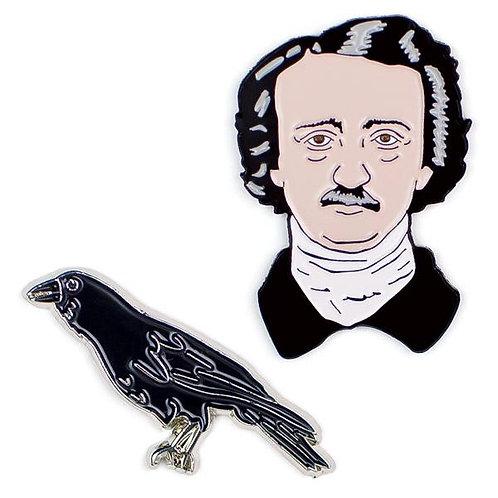 Edgar Allan Poe & The Raven Pins