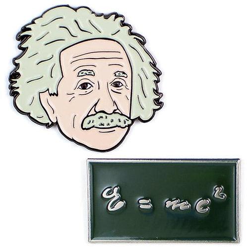 Albert Einstein & E=mc2 Pins