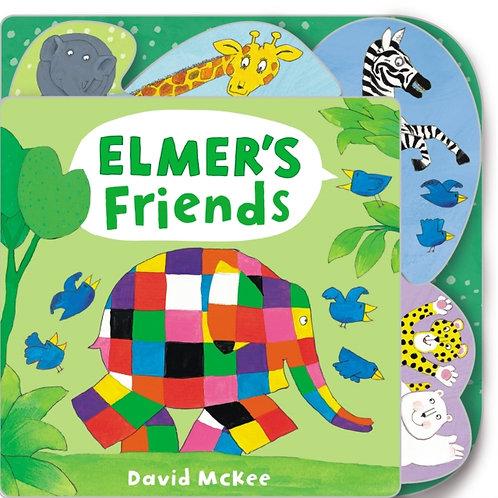David McKee - Elmer's Friends : Tabbed Board Book (AGE 0+) (HARDBACK)