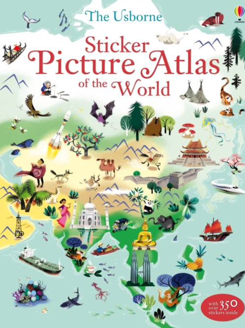 Sam Lake - Sticker Picture Atlas Of The World (AGE 5+)