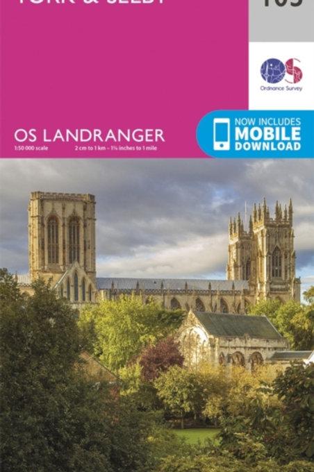 York & Selby : Ordnance Survey Landranger Map 105