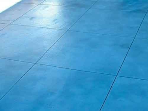 Blue coloured concrete