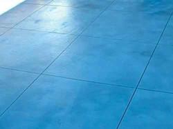 Blue coloured concrete