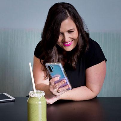 Wendy Tibbotts of Zigzag Creative managing her client's social media branding