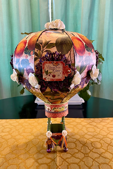 Bloom With Grace Large Paper Hot Air Balloon