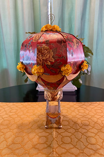 Golden Peony Large Paper Hot Air Balloon
