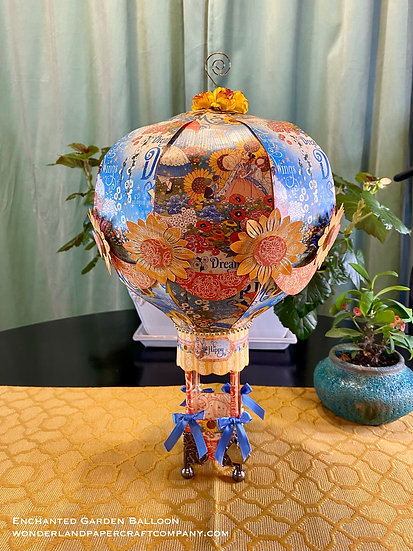 Enchanted Garden Large Paper Hot Air Balloon - Part of the Dreamland Collection