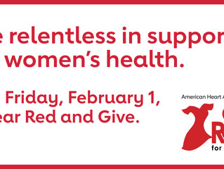 Be Relentless - Wear Red on February 1st!