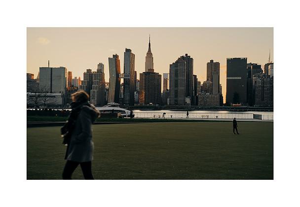 Golden Sun Kissing New York Skyline