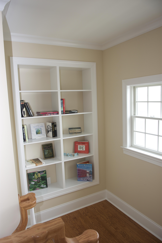 bookshelf on landing