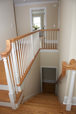 Stairs and railing to second story