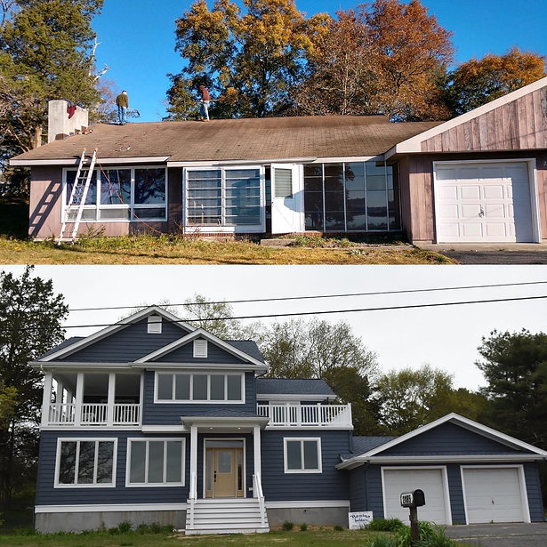 new home, new construction, Before and After, Revnovation