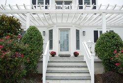 Front porch with pergola