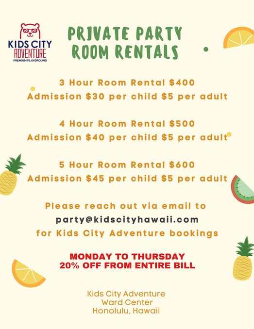 KIDS CITY ADVENTURE: Party Package