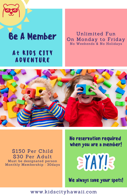 KIDS CITY Adventure: Monthly Membership