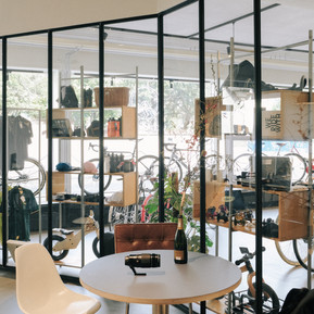 Glastrennwand Büro/Laden Rohstahl geölt