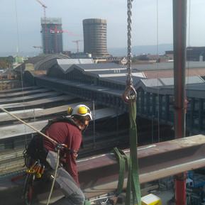 Industriekletterer Rückbau Stahlträger