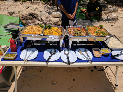 Lunch spread provided by Elizabeth Andaman Tours