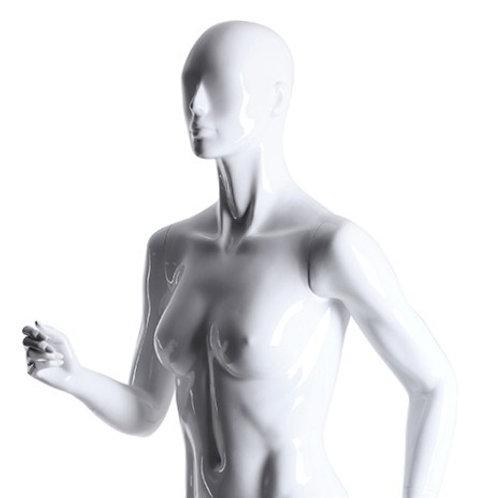 Mannequin femme sport blanc de course