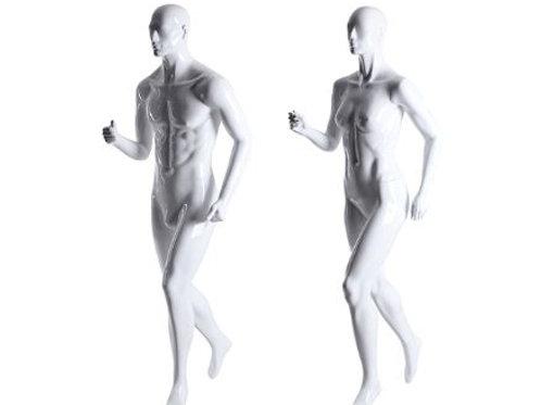 Mannequin homme sport blanc de course