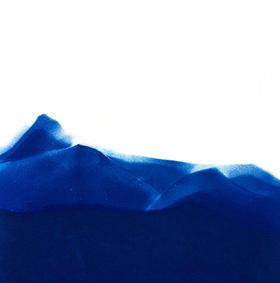 ne me quitte pas , cyanotype, 21 x 24 cm