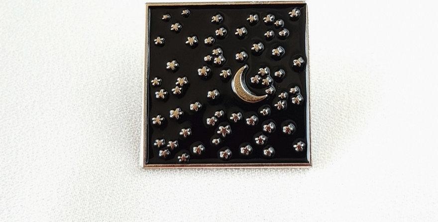 """Pin """"Sky full of stars"""" (srebrny)"""