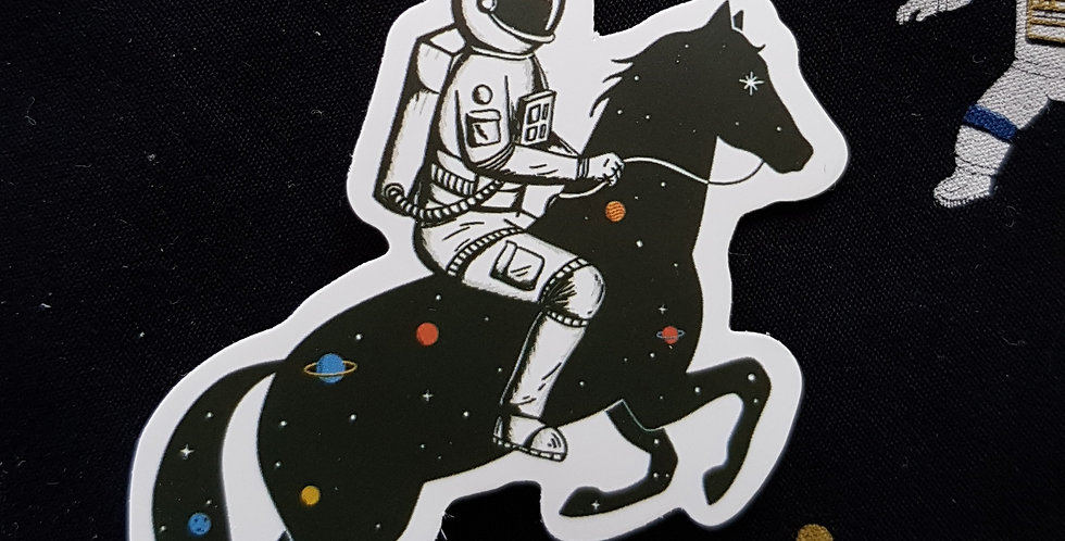 "Naklejka ""Black horse"""