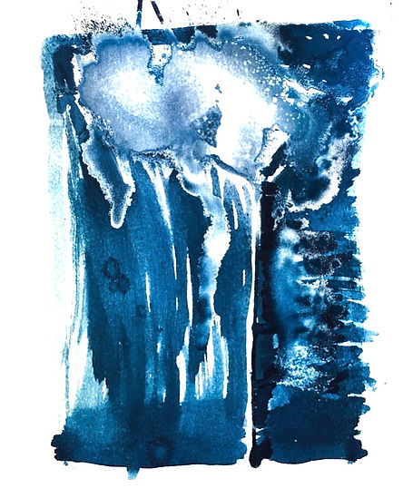 ascension cyanotype on Hahnemuhle waterc