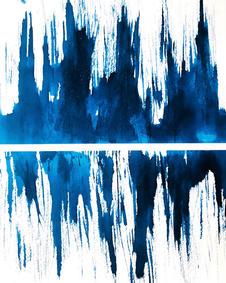 agony , cyanotype , 29 x 42 cm