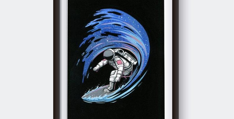 """Plakat """"Astrosurfer"""""""