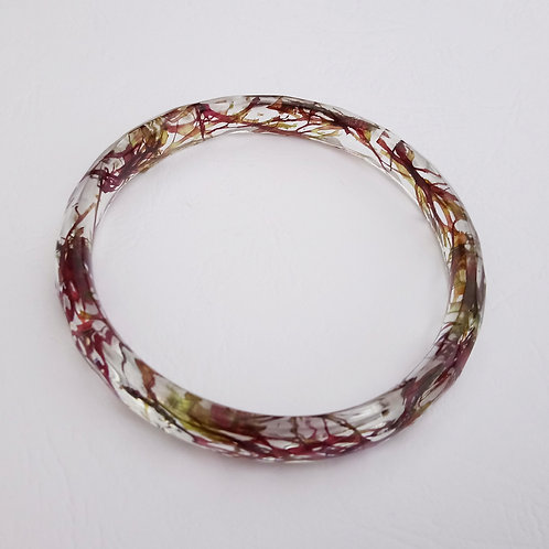 Bracelet résine et algues