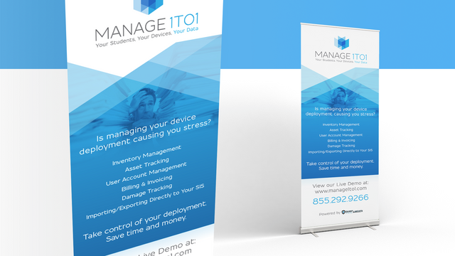 Manage 1to1 Banner Stand