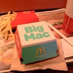 Plain Big Mac and Strawberry Sundae