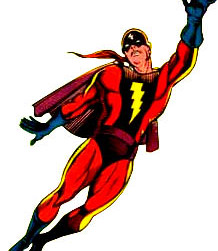 Kapitan Kidlat, Superman, Batman