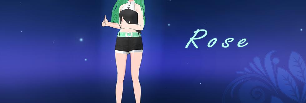 Rose 3d Model - VRChat & Game Ready