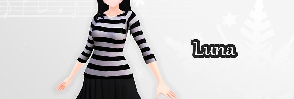 Luna 3d Model - VRChat & Game Ready