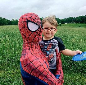 Spiderman, superhero parties, kentucky superhero parties