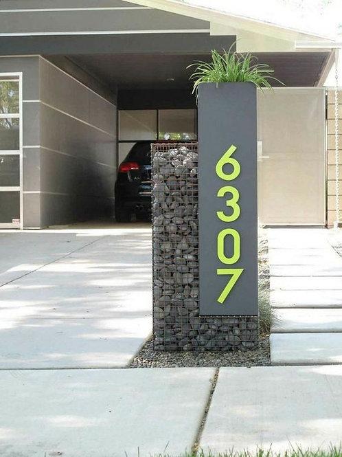 Banner puerta entrada piedra gavionada