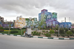 Mural, acrylic paint. Tehran 2011