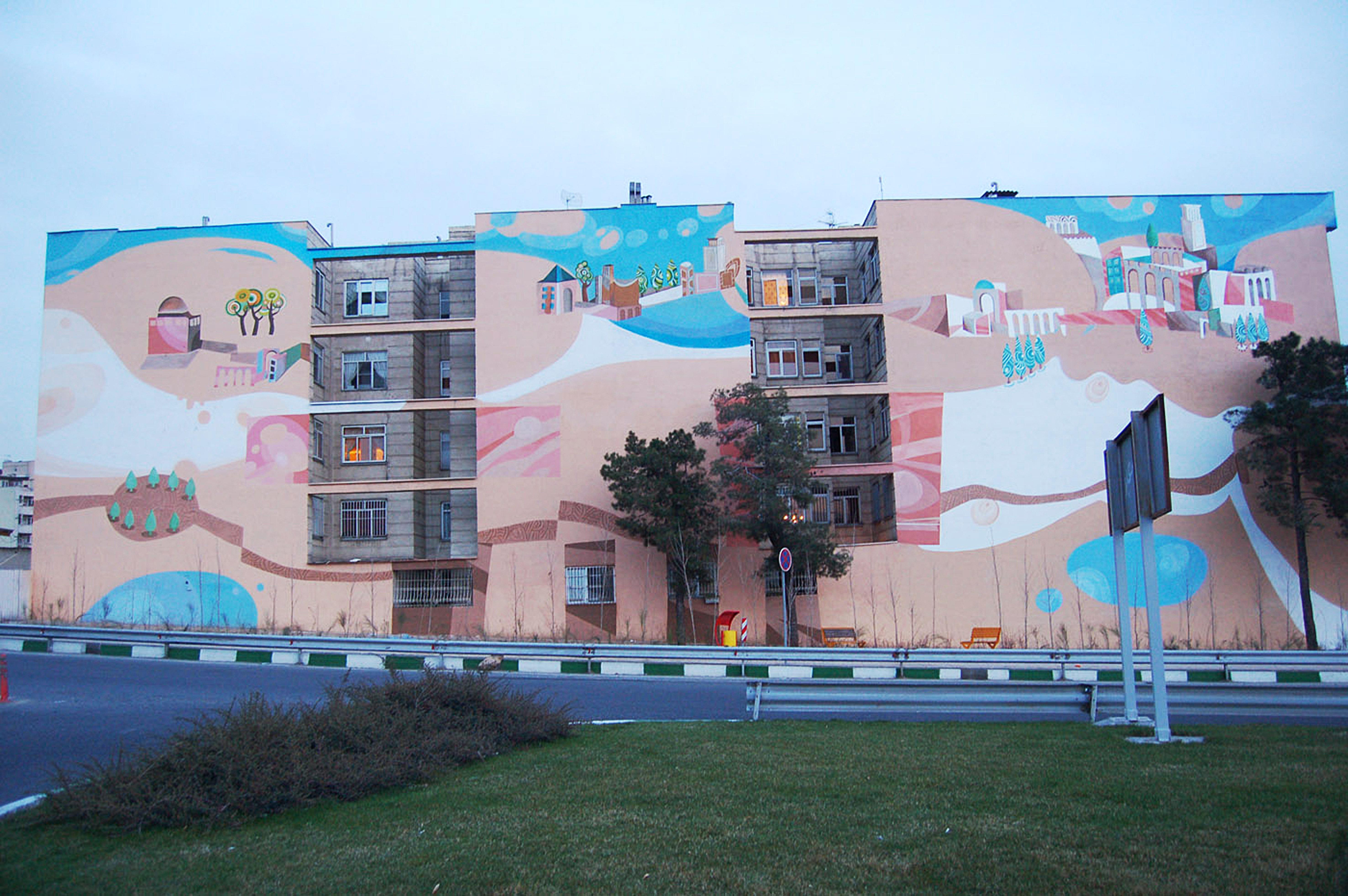 Mural, acrylic paint. Tehran 2013