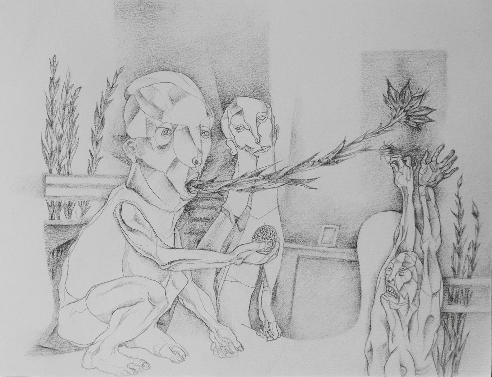 pencil on paper, 2014