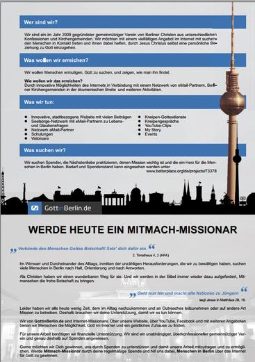 Beispiel A - Innenseite:  Flyer Wickelfalz - 6-seitig - DIN lang quer