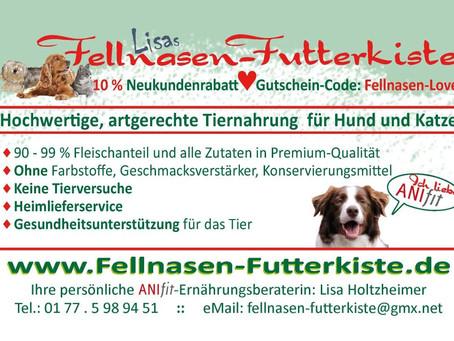 "Herzlich willkommen in ""Lisas Fellnasen-Futterkiste"""