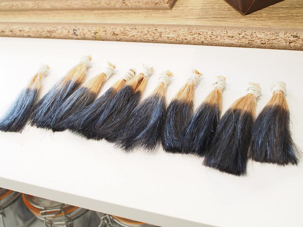 ヘアカラー 毛束実験