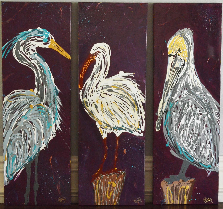 Southern Bird Triptych