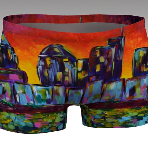 Sunset Skyline Athletic Shorts