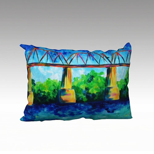 "Bridge Over Cumberland 20x14"" Pillow"