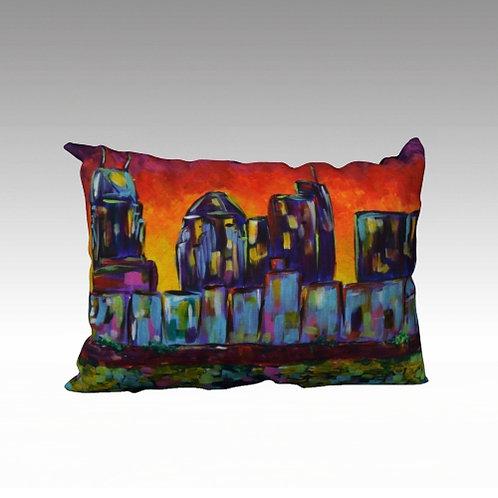 """Sunset Skyline 20x14"""" Pillow"""
