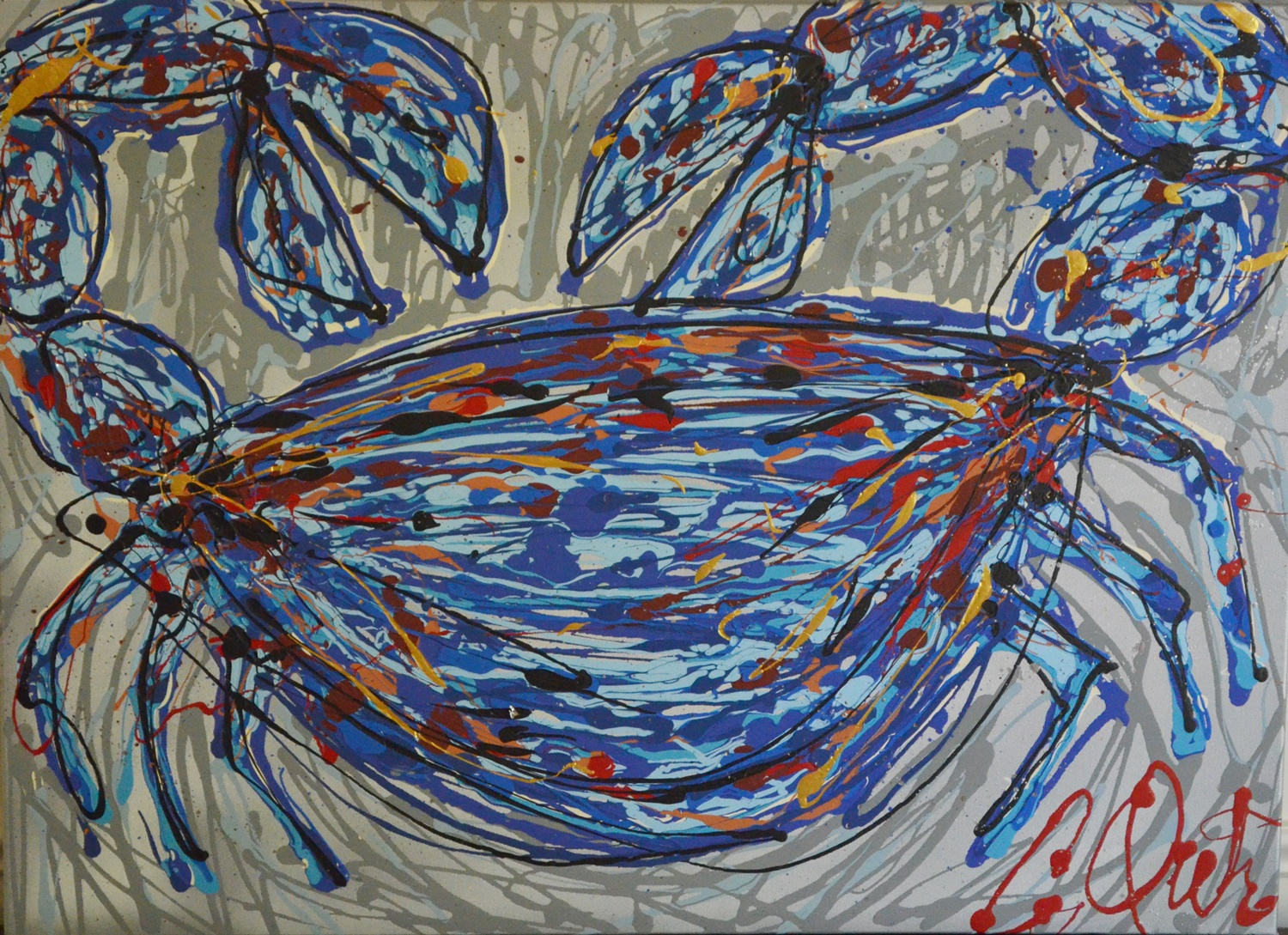 Camille Quintana_Crab VII_Acrylic on Canvas_2014.JPG