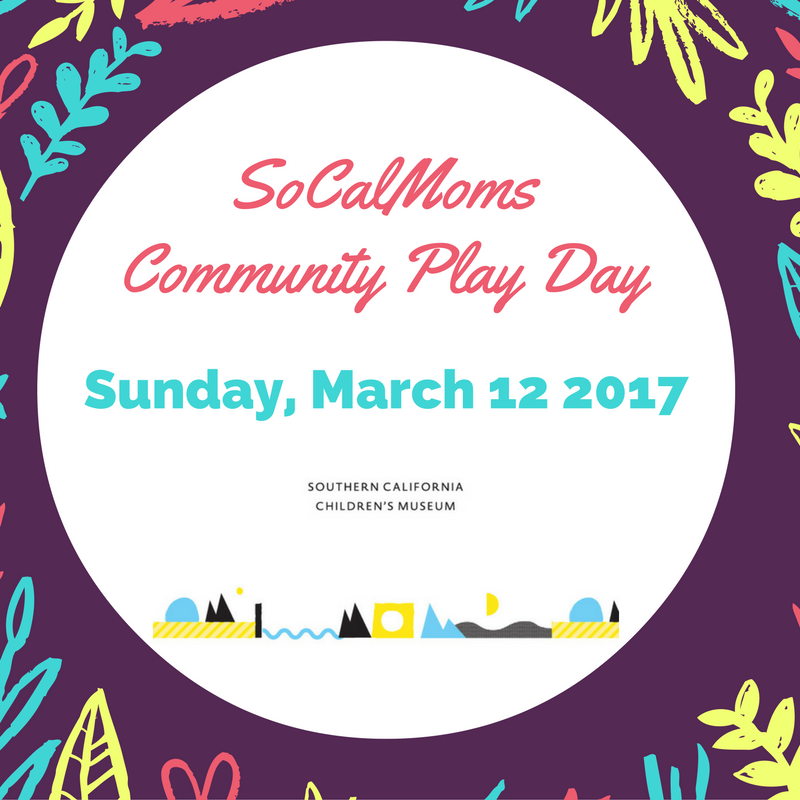 ~Join us at @SoCalMoms Community Play Day @socalkidsmuseum on Sunday, March 12th at 10am for music, crafts, food and fun! This is a FREE event!  Plus the first 50 attendees have a chance to win a Golden Ticket to the @GreatBigFamilyPlayDay.  Please pre-register via the @citymomsapp or on the Facebook event page here to reserve your spot.